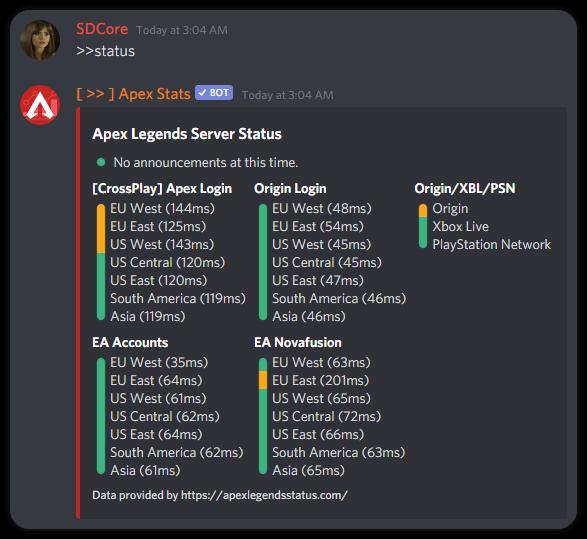 Server Status Preview